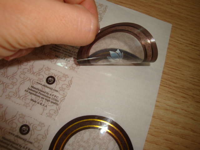 Cosmetic Clear Label with Gold Hot-stamping