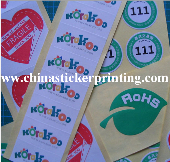 Paper Die Cut Shape Sticker