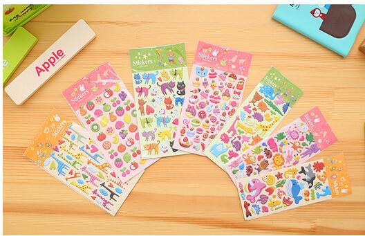Custom Cartoon 3d Bubble Foam Puffy Sticker