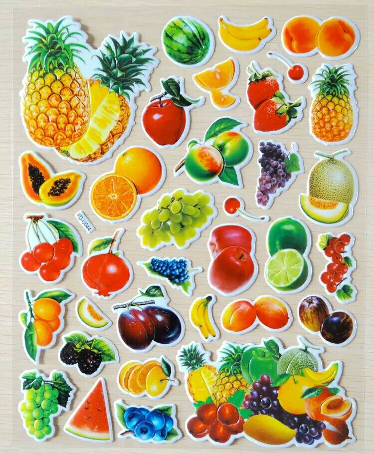 Foam Cartoon Kids Cute Fruits Stickers