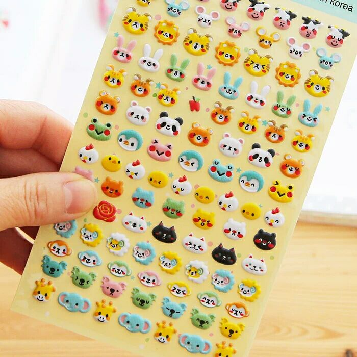 Qute Small Puff Stickers for Kids