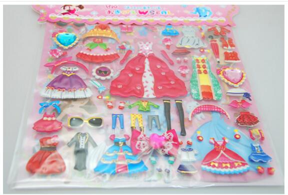 Double Dressup Doll Sticker Sets