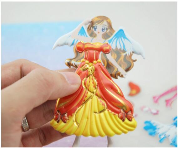 Custom Puffy Dressup Girl Stickers