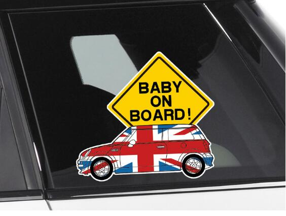 Reflective Car warning sticker / baby in car sticker