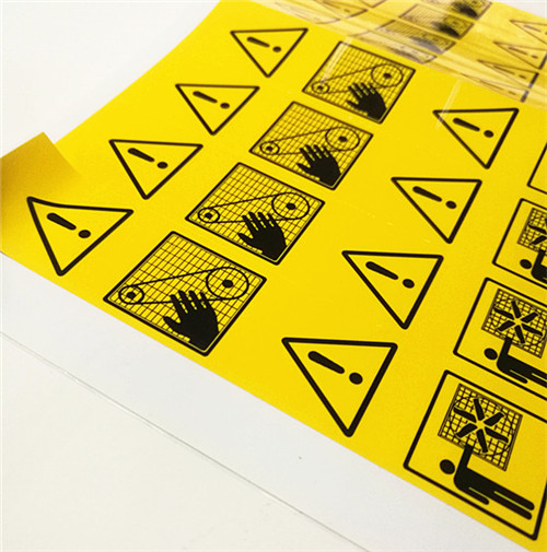 Chemicals warning sticker label printing factory